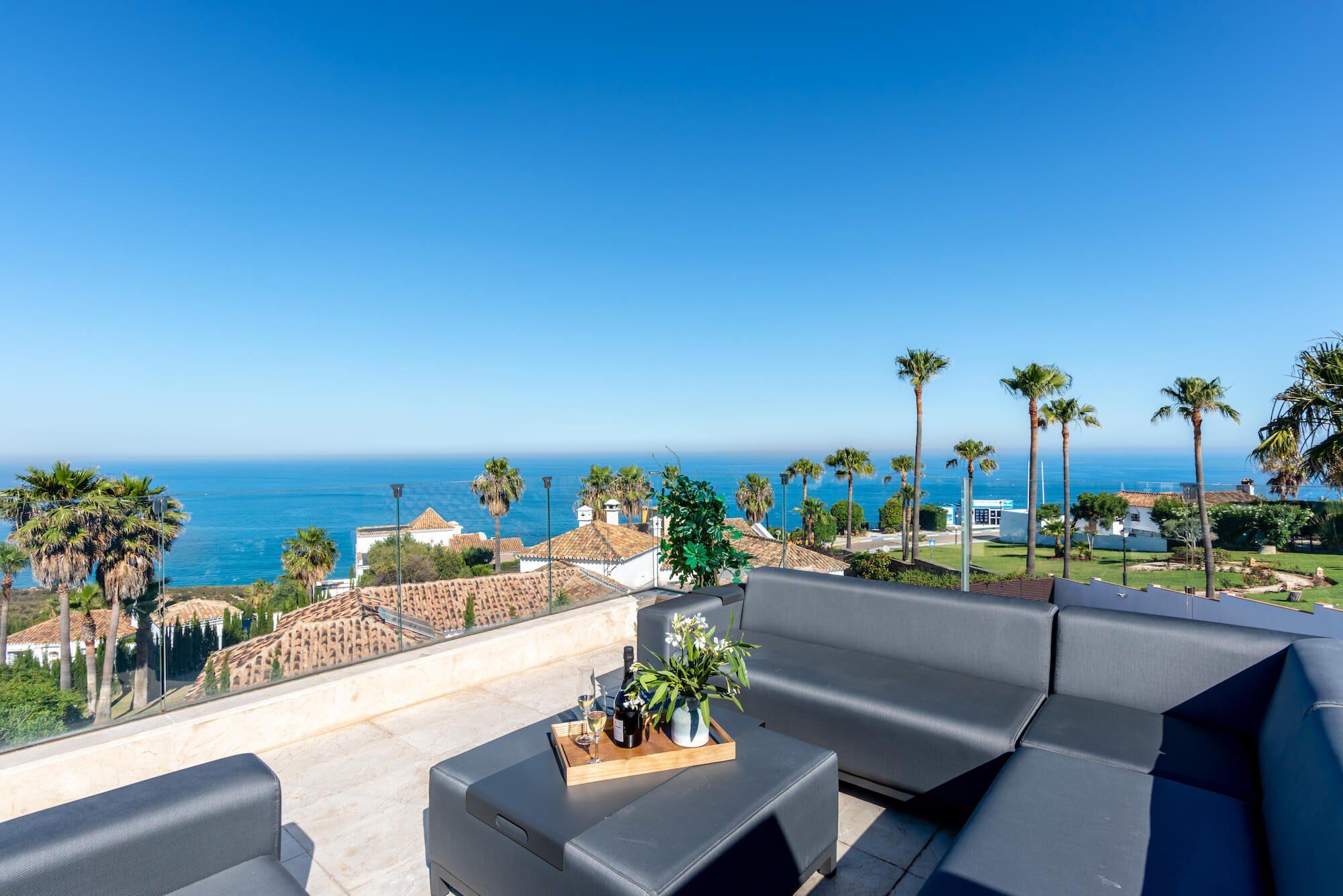 Panoramic Sea Views Villa For Sale In Manilva